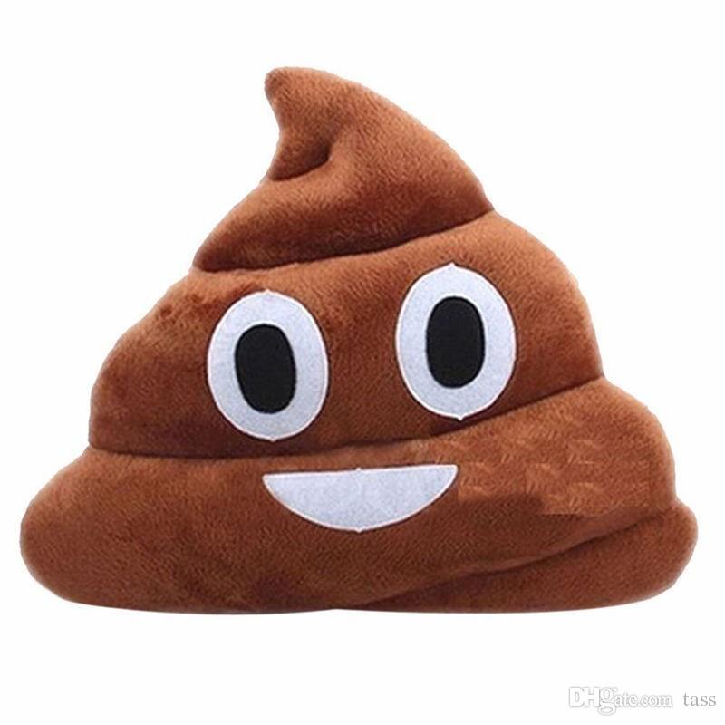 Presente almofada Emoji Pillow presente bonito Merdas Poop Bicho de Pelúcia Boneca engraçada do Natal Plush Bolster Almofadas frete grátis