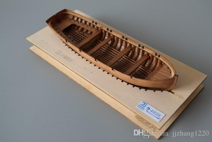 Classic wooden sailing boat assembled set of material the Cutter/Jolly/Launch/Pinance Life-boat Model 4 styles can choose