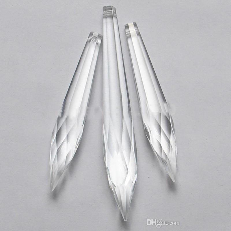 2021 Clear Crystal Chandelier Icicles, Chandelier Glass Drops Parts