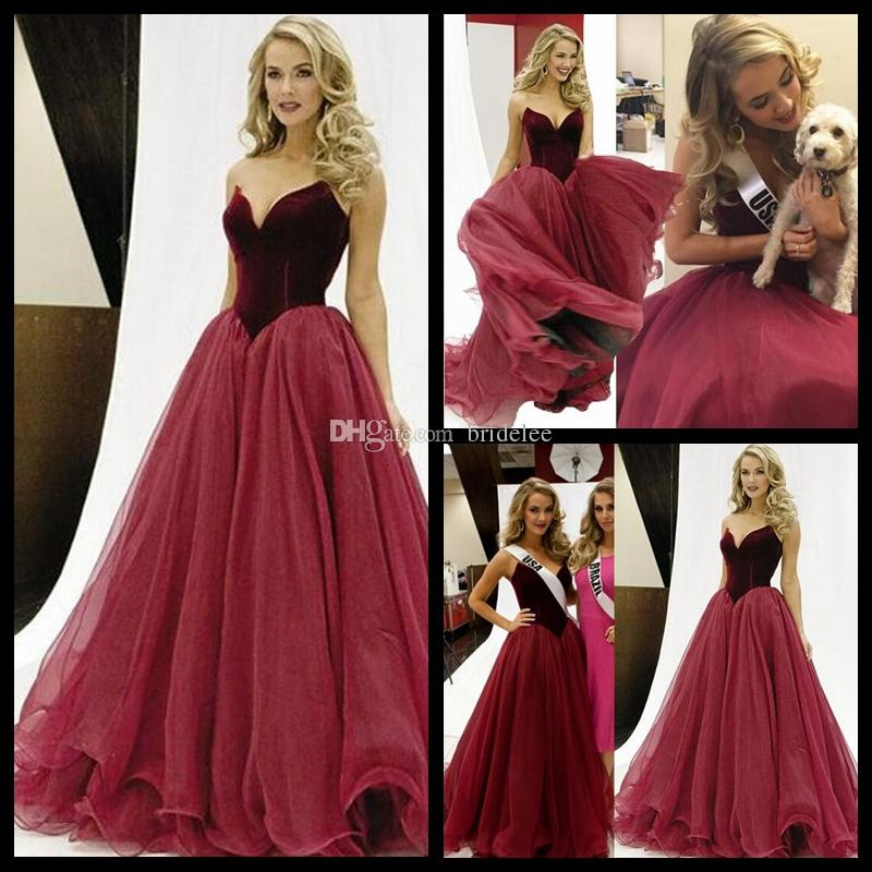 Gorgeous Wine Red A Line Prom Dresses