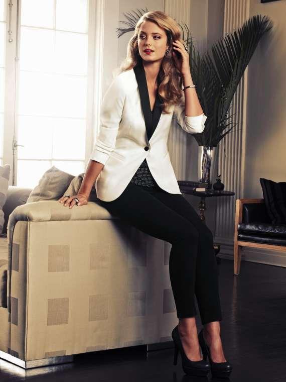 fashion ivory women Tuxedos slim fit suits for women shawl Lapel ...