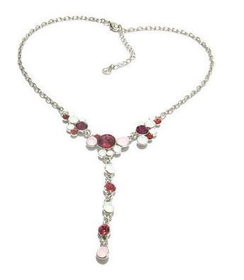 colar de senhora pingente vermelho * azul diamante (xysppfh)