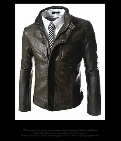 d9c283eb86d Compre Hombres Chaquetas De Cuero Para Hombre De La Chaqueta Del Diseñador  Hombre Ocasional Abrigos Para Hombre Outerwears Chaquetas De Cuero De La ...