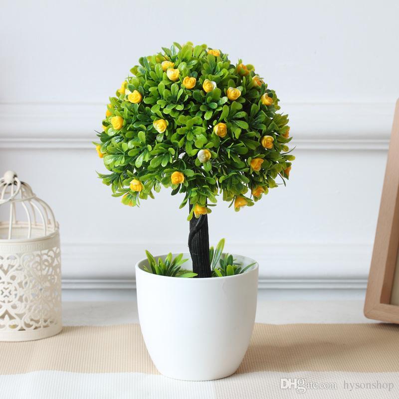 ... Hyson Shop Decorative Flower Mini Bonsai Pots Planters Artificial  Plants Fake Small Tree Table decor Umbrella ...