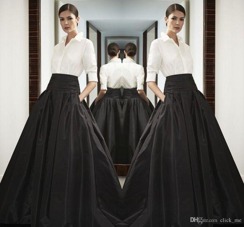 fc57d98f6 High Waist Black Long Satin Skirts Wide Waistband Floor Length Bust Skirts  Custom Made High Quality Maxi Skirt Spring Summer Party Dress