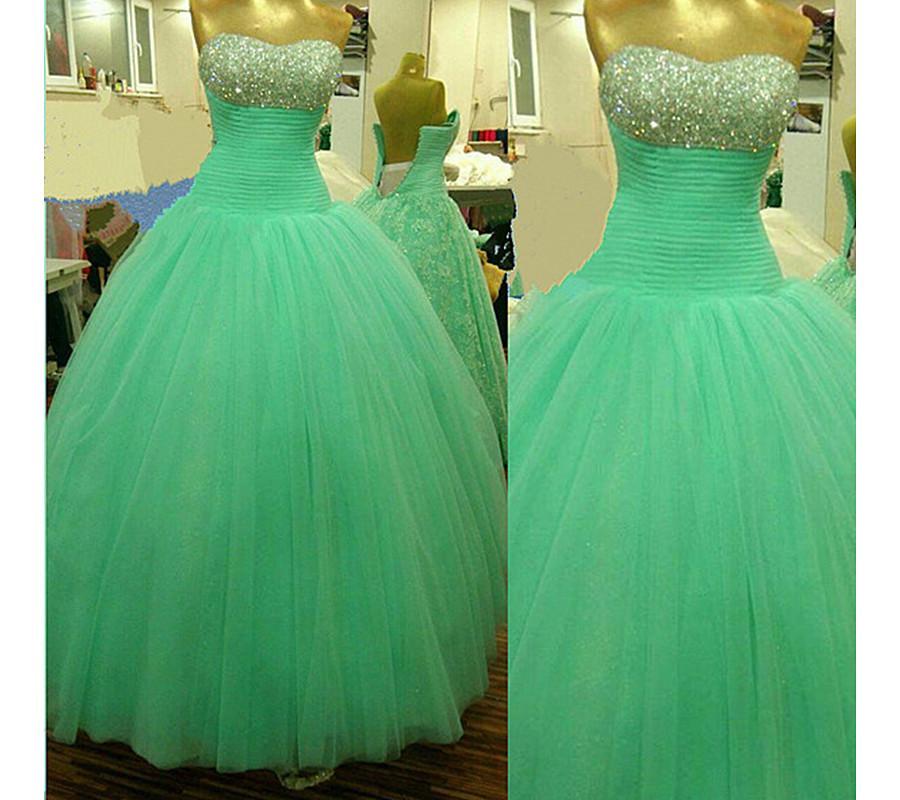 2016 de alta qualidade vestido de baile quinceanera vestidos frisado de cristal festa de formatura doce 16 dress vestidos de 15 vestidos wd225