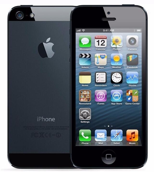 Refurbished Original Apple iPhone 5 With Original LCD Original Battery iOS 9.0 16GB/32GB/64GB 8MP Unlocked Mobile Phone