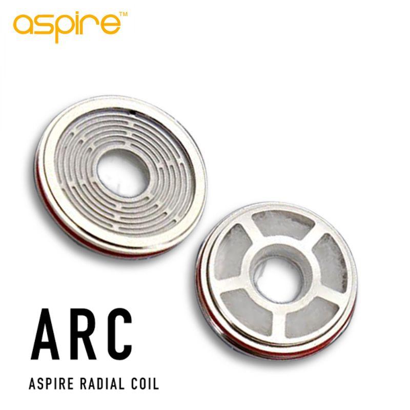100% originale Aspire Revvo serbatoio ARC (Aspire Radial Coil) sostituzione della bobina testa per Skystar / Tifone Kit 0.1 ~ 0.16ohm Stove Top atomizzatore
