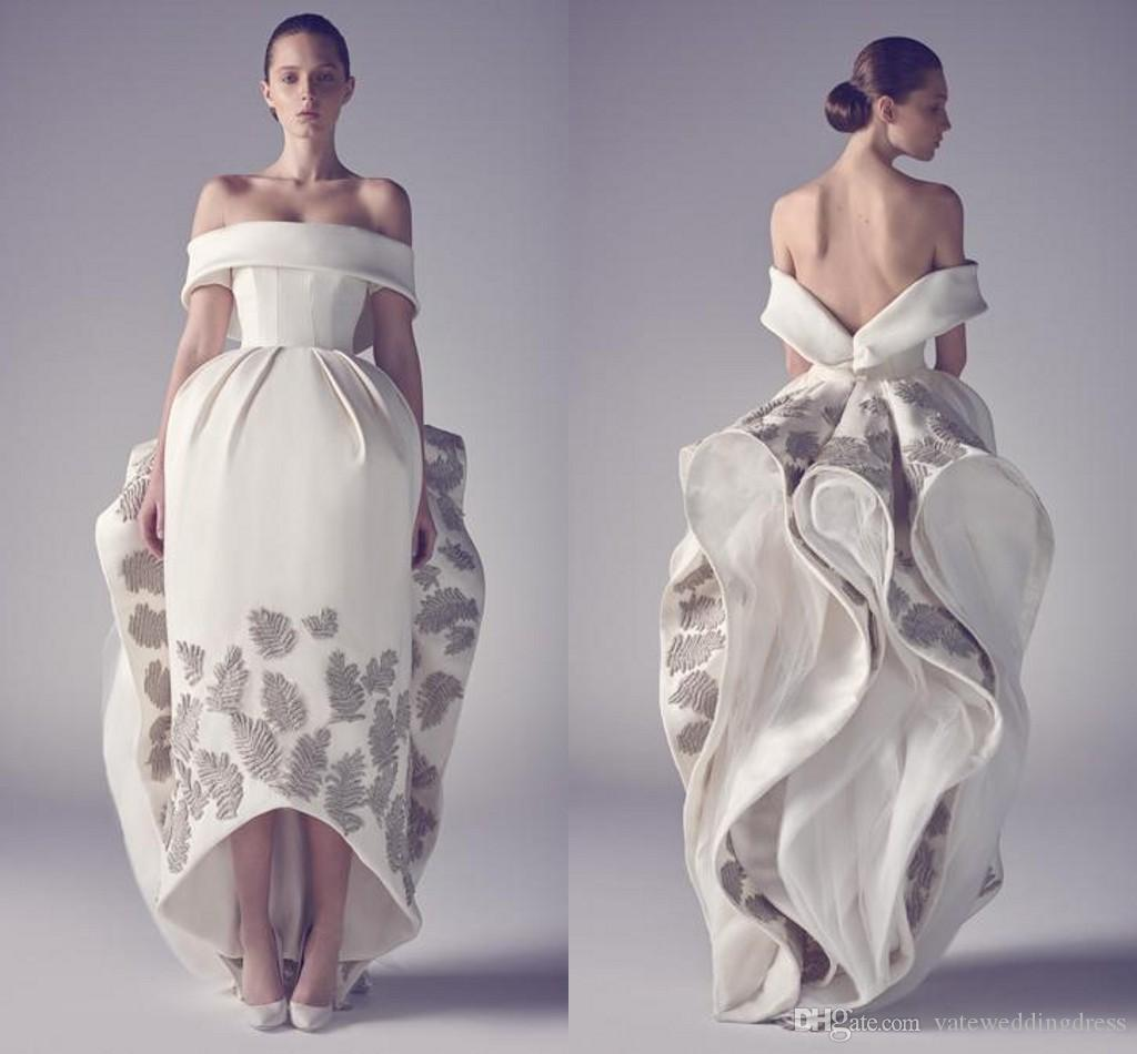 New Designer Ashi Studio Emboridery Prom Dresses Off The Shoulder Party Dress Satin Pattern Flower Custom Made Dress Bow Back Zipper