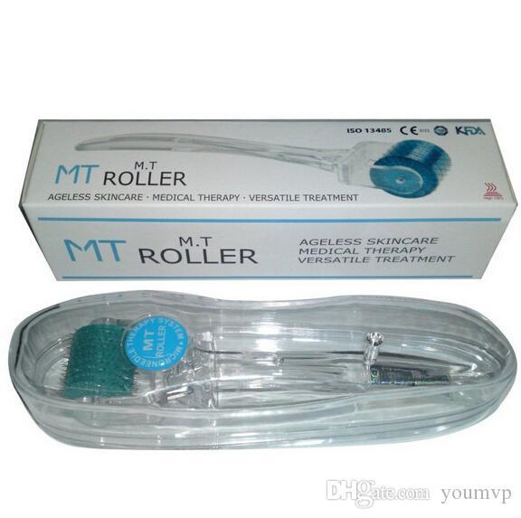 MT 192 Micro Aguja Derma Roller para rejuvenecimiento de la piel, Herramienta de belleza de la piel 192 Agujas Derma Roller 0.2mm-3.0mm