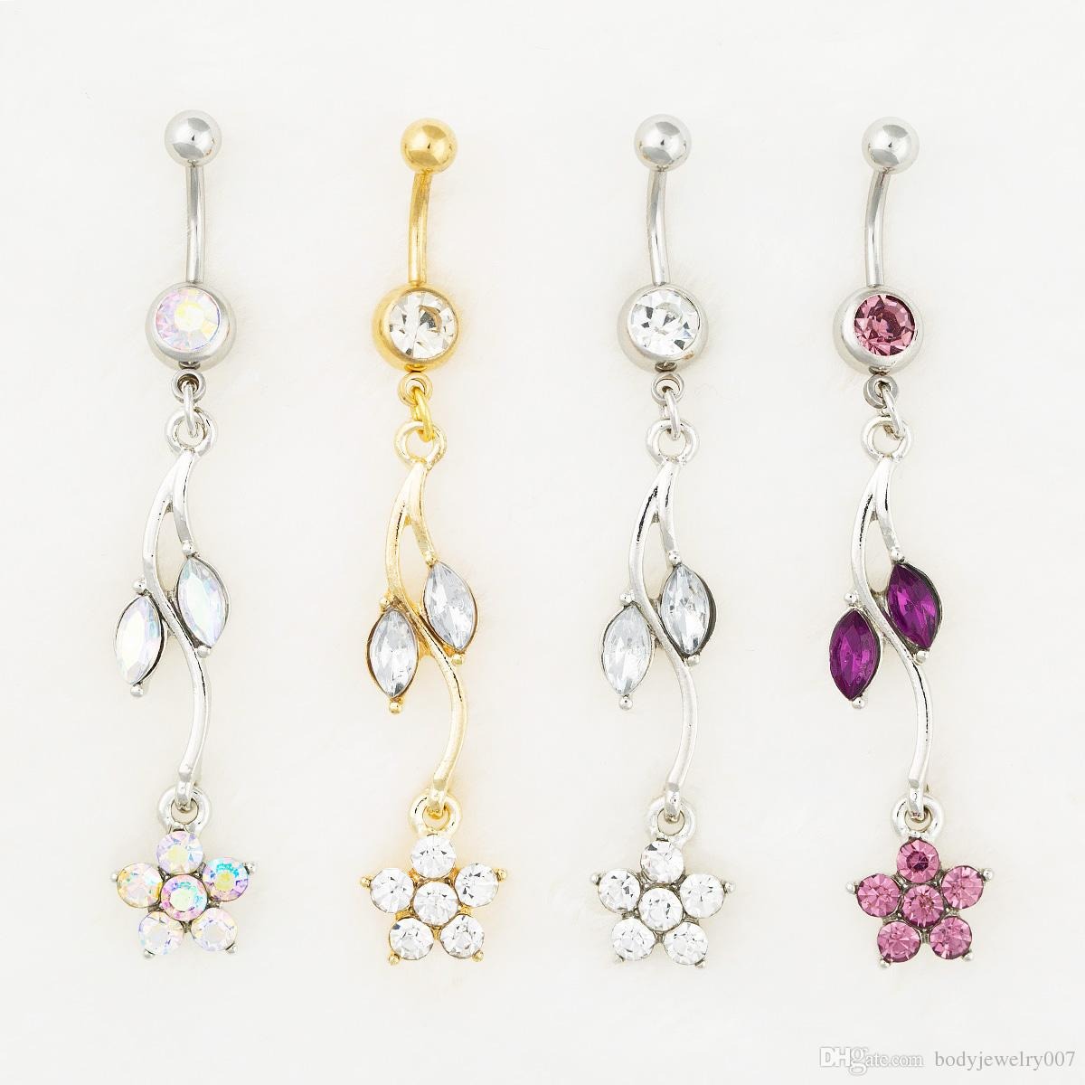 D0528-1 (3 colores) Joyería corporal Nice Style Nave Belly Ring 10 PCS Mix