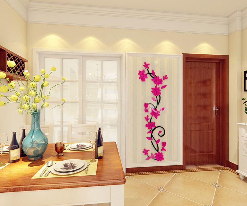 DIY 3D Akrilik Kristal Duvar Çıkartmaları Oturma Odası Yatak Odası TV Arka Plan Ev bebek odası duvar kağıdı çocuk odası için kapı sticker
