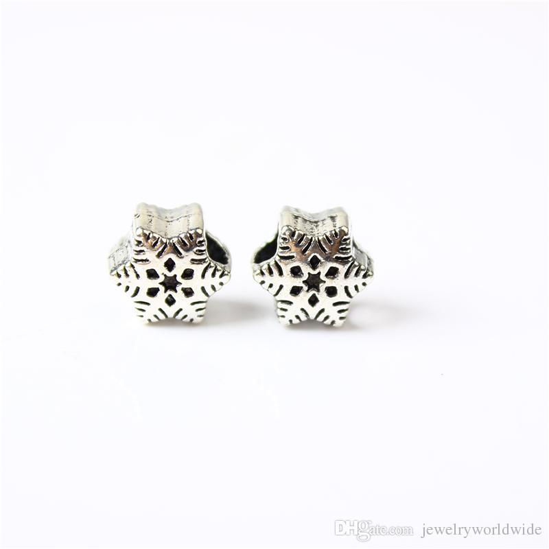 Fiocco di neve Bella lega di fascino di fascino di modo di modo dei monili delle donne sbalorditivi di progettazione stile europeo per la collana del braccialetto del braccialetto Pandora Panza001-8