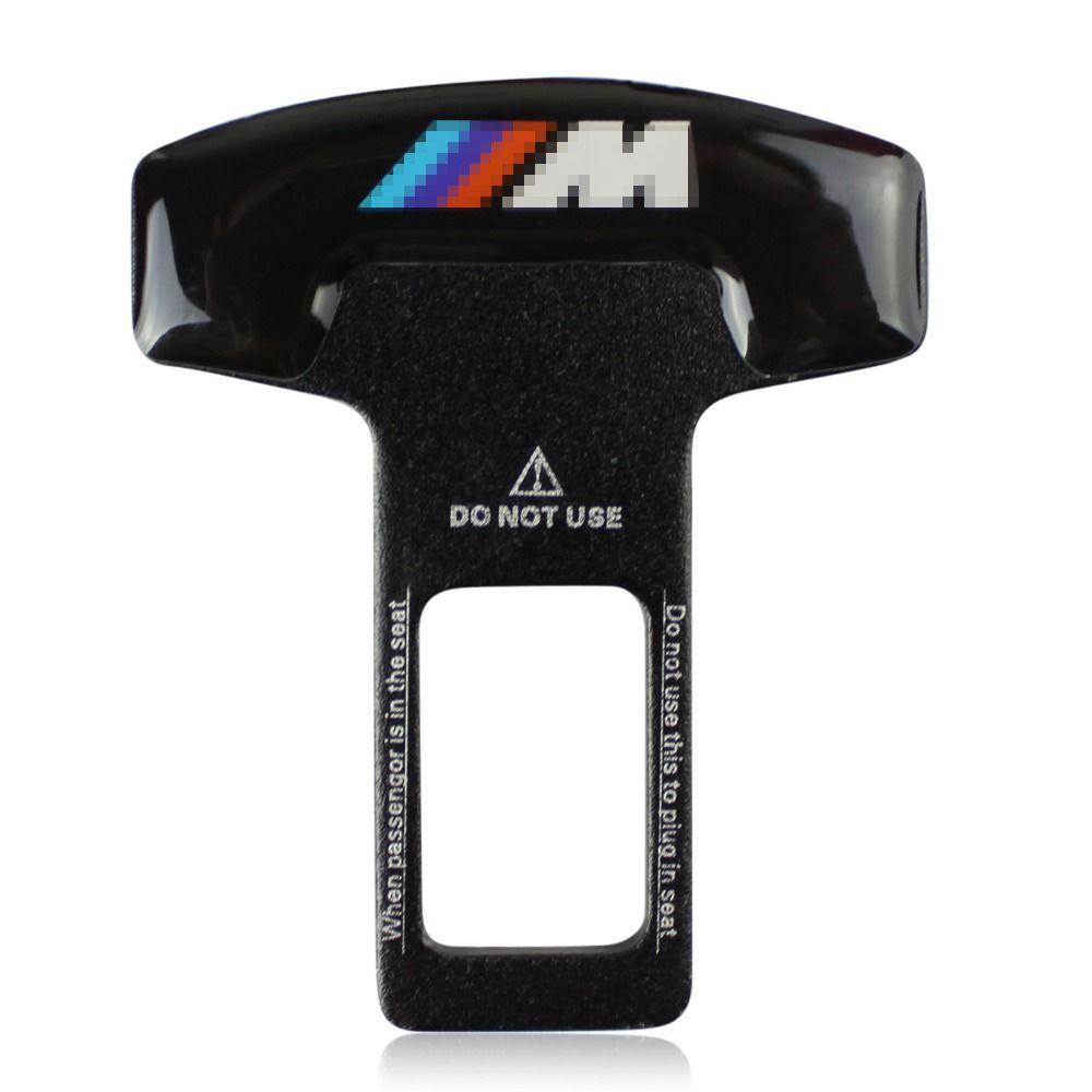 NEW Car Accessories Safety Seat Belt Buckle Alarm Stopper Eliminator Clip Black