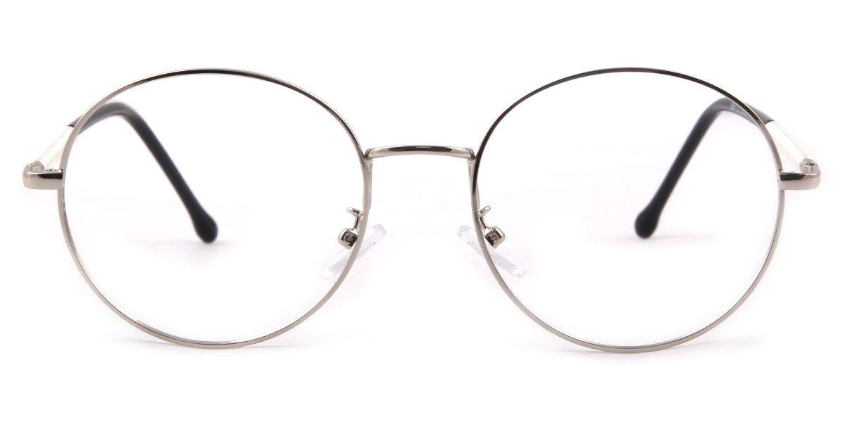 Großhandel 2017 neue Mode-stil Große Runde Linsen Gläser Silber ...