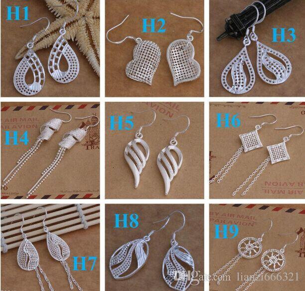 Dangle&Chande jewelry earrings Best gift Marking 925 Fashion 925 Sterling Silver Beautif Earrings Dangle Earrings Mix Order 1762