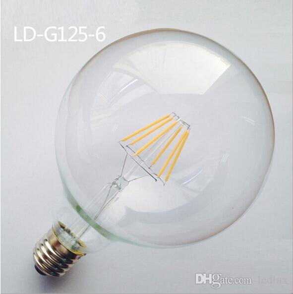 Dim G125 E27 E26 B22 4 W 6 W 8 W 8xCOB 800LM 2800-3000 K Sıcak Beyaz Işık LED Filament Lamba Ücretsiz Kargo (AC90-240V)