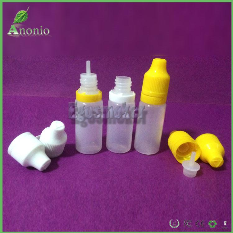 5ml 10ml 15ml 20ml 30ml 50m plastic dorpper e liquid bottle with tamper evident cap seal and child proof cap and long tip eye dropper