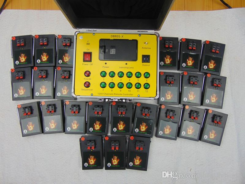 schnell Ferncontro 24 Cues Neues Jahr bedienende Wireless-Schalter der ersten Stufe Satz / Los Hochzeit Bühne Hausgarten-Feuerwerk-System liefern Firing