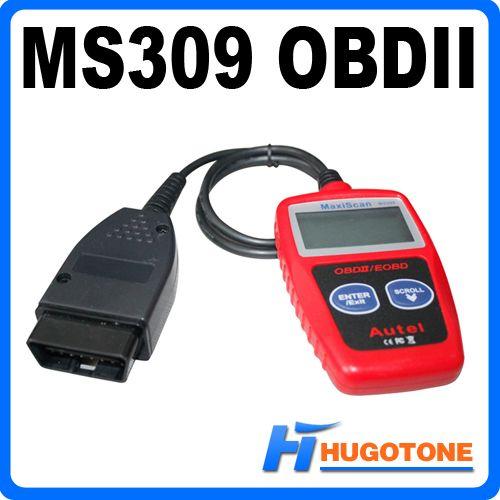 Ferramentas de veículos AUTEL MAXISCAN MS309 OBDII OBD2 EOBD Carro Diagnóstico Scanner Code Reader Ferramenta Auto