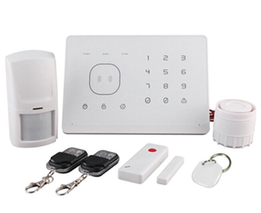 Sistema de alarme GSM com RFID E controle remoto de mensagem de voz remoto App sistema de alarme contra roubo