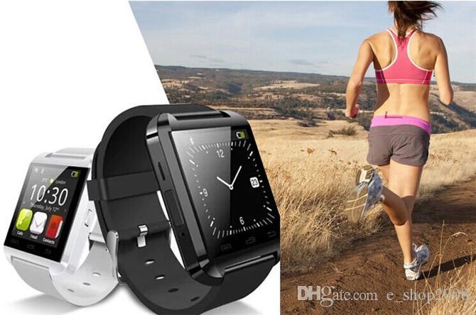 Bluetooth Smart Watch U8 Watch Wrist Smartwatch för iPhone 4 4S 5 5S 6 6s 6 Plus 7 7s 8 Samsung S8 S7 Note 8 HTC Android Phone Smartphones