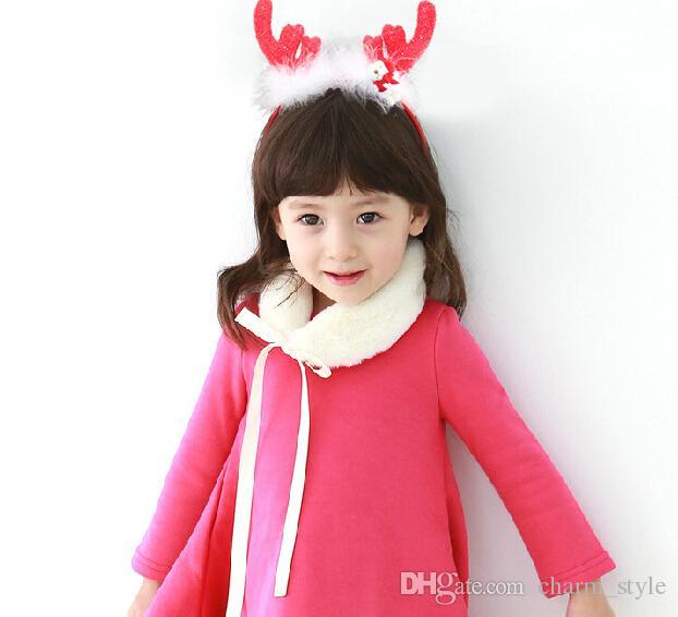 15% Rabatt auf Verkaufsstellen stereoskopische Geweih Kopf Hoop Kinder Haarschmuck Festival Weihnachtsgeschenk für Mädchen Drop Shipping 15st RD