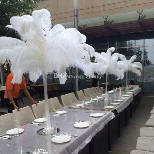 Ostrich Feathe 100pcs/lot Table Decoration Wedding Centerpiece White Ostrich Feather Plume Wedding Decoration Ostrich Centerpieces