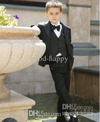 Hoge kwaliteit jongen formele gelegenheid kit pakken kid kleding bruiloft kleding verjaardagsfeestje Prom pak (jas + broek + tie + vest) nr.: 20