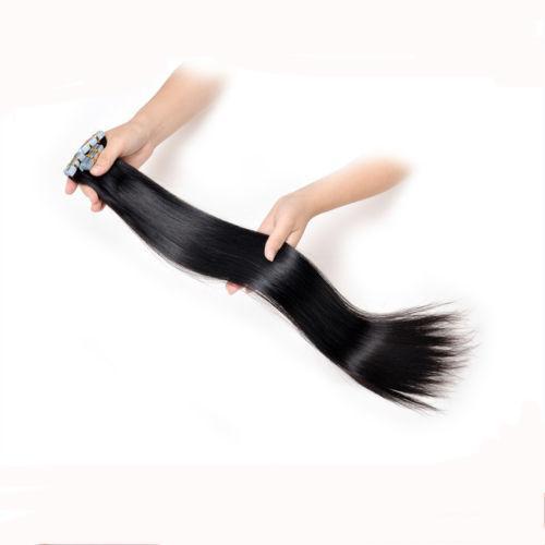 "Wholesale - 14"" - 24"" 100% Human PU EMY Tape Skin Hair Extensions 2.5g/pcs 40pcs&100g/set #1 jet black DHL FREE"