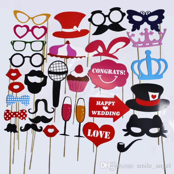 Wedding Decorations 31pcs/lot Funny Photo Booth Props Red Funny Lips 2019 New Arrival Wedding Birthday Christmas Party Party Photo Props