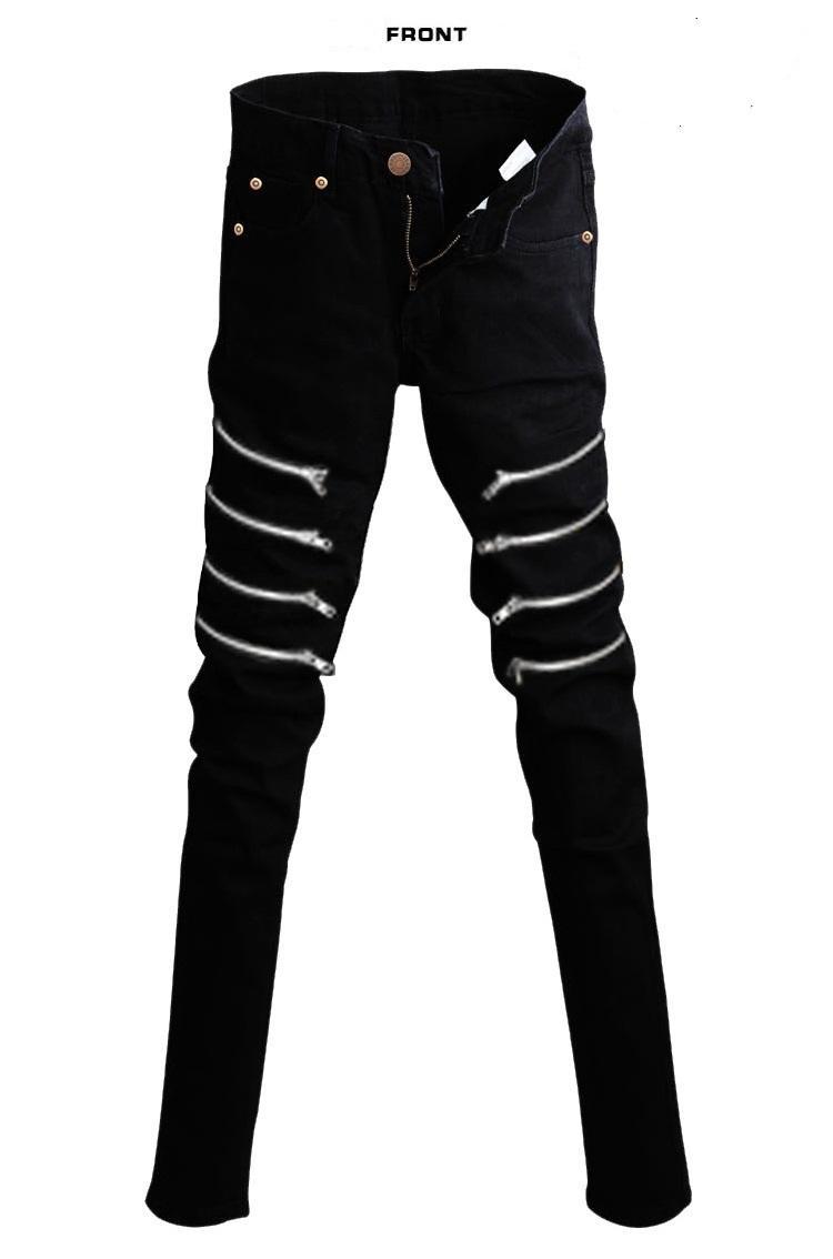 2017 2015 Korean New Designer Black Skinny Jeans Men Denim Pants ...