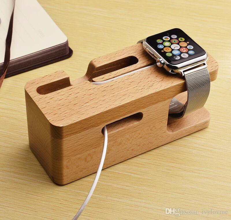 2019 Portable Universal Wooden Phone Holder Stand Office Desk Home Table For Iphone Holder Stand For Iphone 6 Plus For Other Mobile Phones From