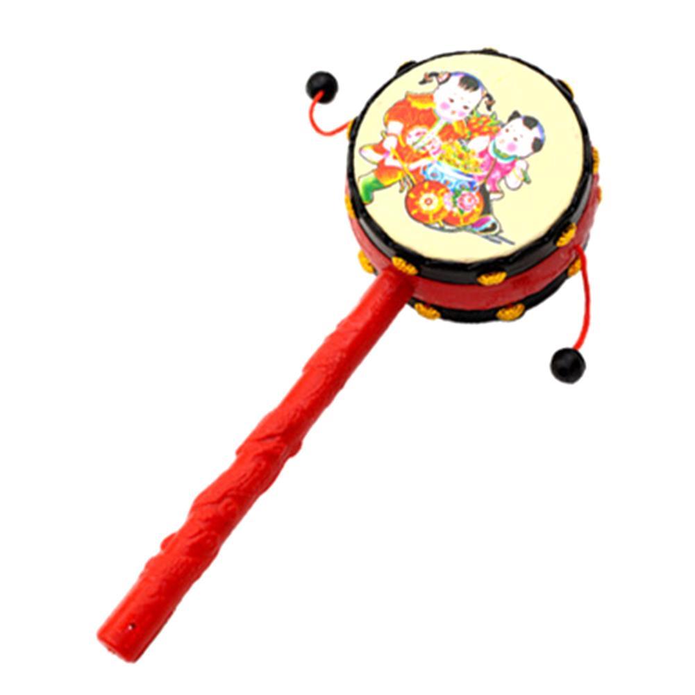 Atacado-Kids Pellet Drum Chocalho Martelo Rattle Aprendizagem Musical Instrumento Musical Instrumento de Percussão Baby Toy Instrumento Musical