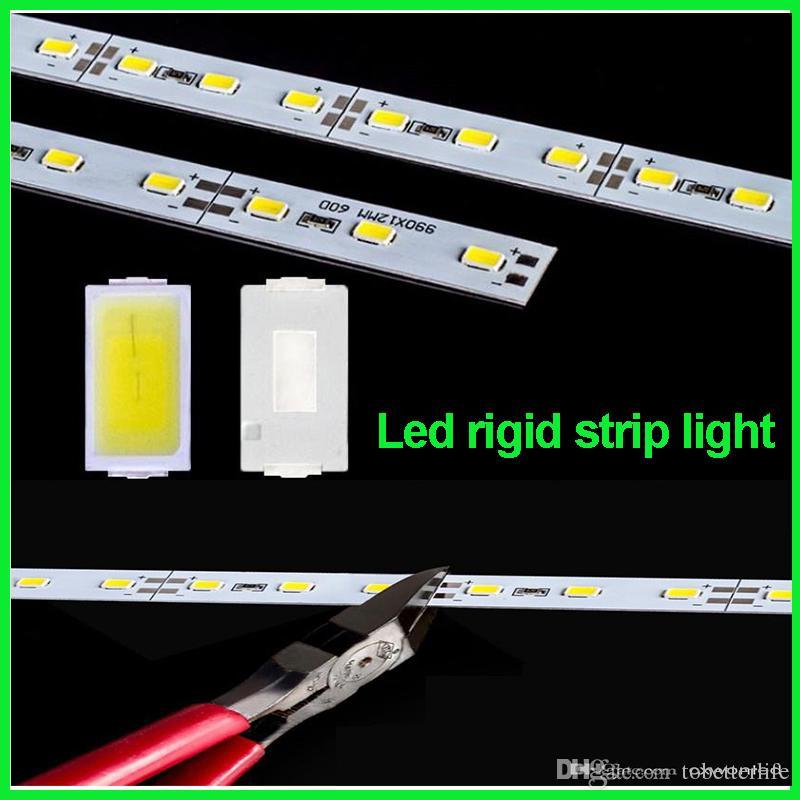 DHL Fedex 50m lot led rigid strip light led bar light SMD5630 DC12V 1m 72leds + U Channel aluminum slot without cover showcase light