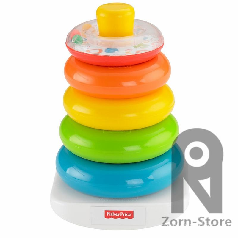Intelligence toys Fisher Price Rock-a-Stack Rainbow Rings Early Learning Stackers Colorful Classic Sensory Baby Educational