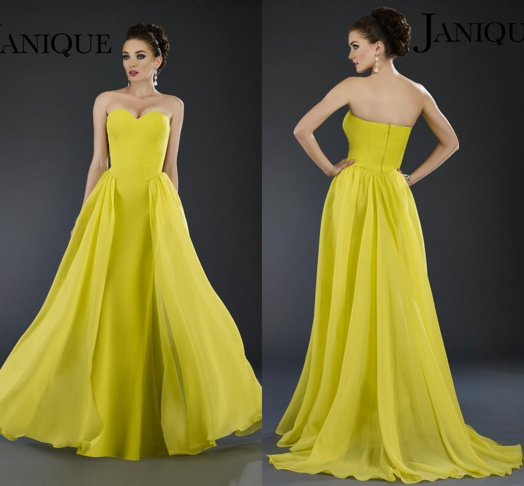 2016 Janique Cheap Evening Gowns Sweetheart Sleeveless A Line Floor ...
