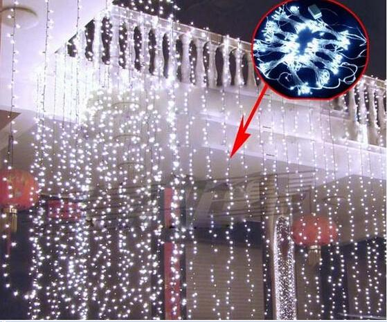 150LEDs 3M*1M Curtain String Lights Garden Lamps New Year Christmas Icicle Lights Xmas Wedding Party Decorations