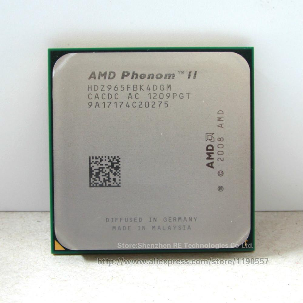 Processeur AMD Phenom II X4 965 (3,4 GHz / 6 Mo de cache L3 / Socket AM3), processeurs quadri-cpu