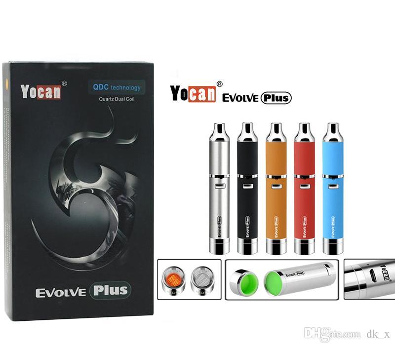 Yocan Evolve Plus Kit de Démarrage Quartz Céramique Donut Double Batterie 1100mAh Batterie QDC Technologie Stylo Cire Sèche 100% Original