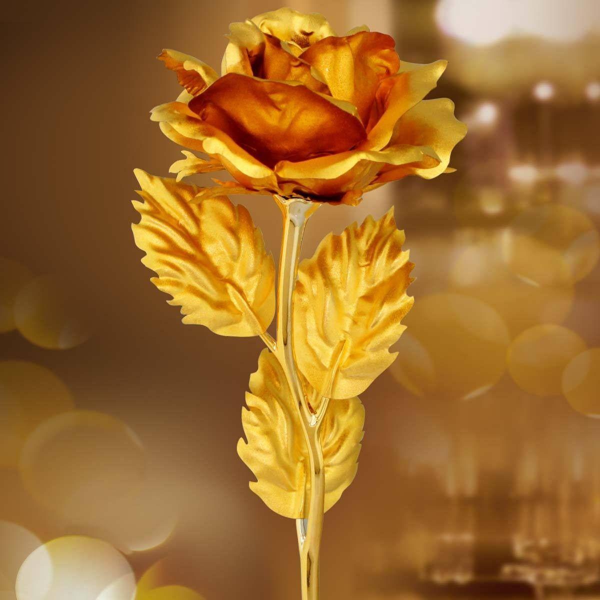 2018 Golden Rose For Valentine Day Artificial Flower Love Gold Dipped Creative Birthday Wedding Gift ValentineS Girls From Samaki
