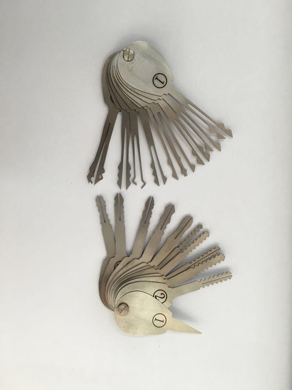 2015 Nuovo 21 pz Auto Jigglers Keys per Double Sided Lock Pick Set di Chiavi Apri di Blocco Lockpick Set Attrezzo del fabbro