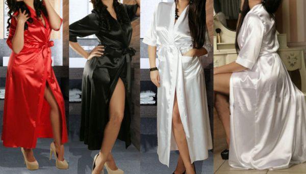 W1031 Novo 2015 Das Mulheres Longo Preto Sexy Kimono De Seda Roupão De Banho Robe Babydoll Lingerie Camisola frete grátis