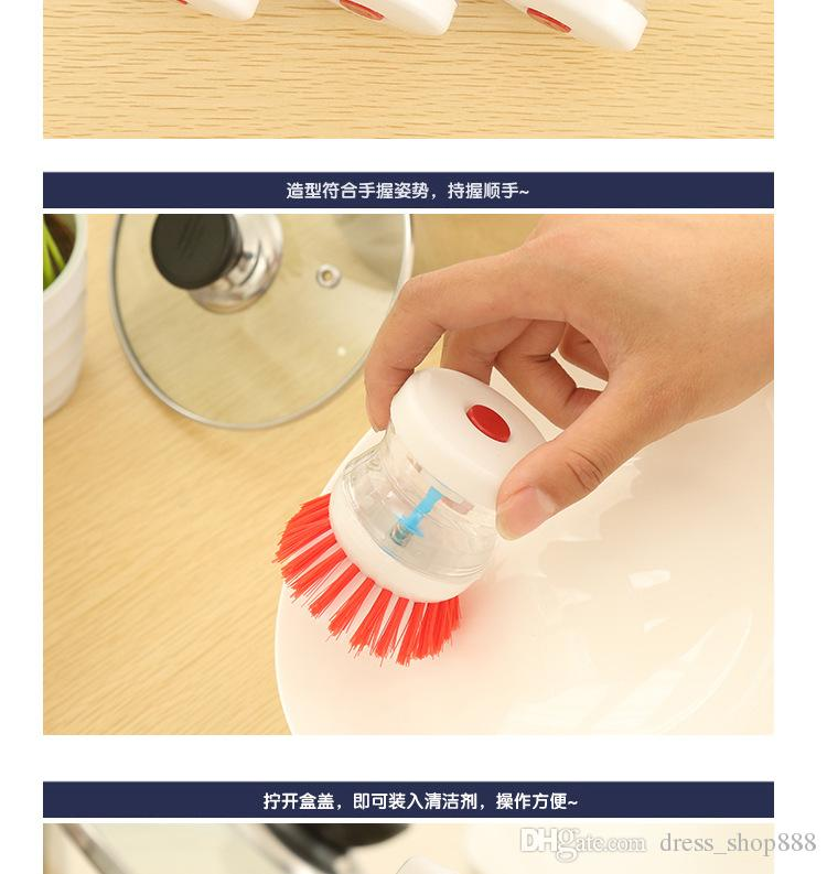 Multifunctionele automatische vloeibare handige reinigingsborstel om de pot schotelborstel hydraulische borstelpot te wassen