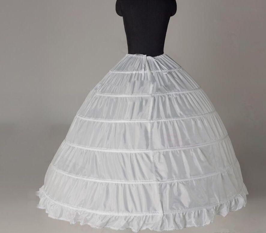 Blanc mariée Jupons Glissades Crionline 6 cerceaux Jupon de mariage Accessoires de mariée robe de bal Accessoires pour le mariage Quinceanera