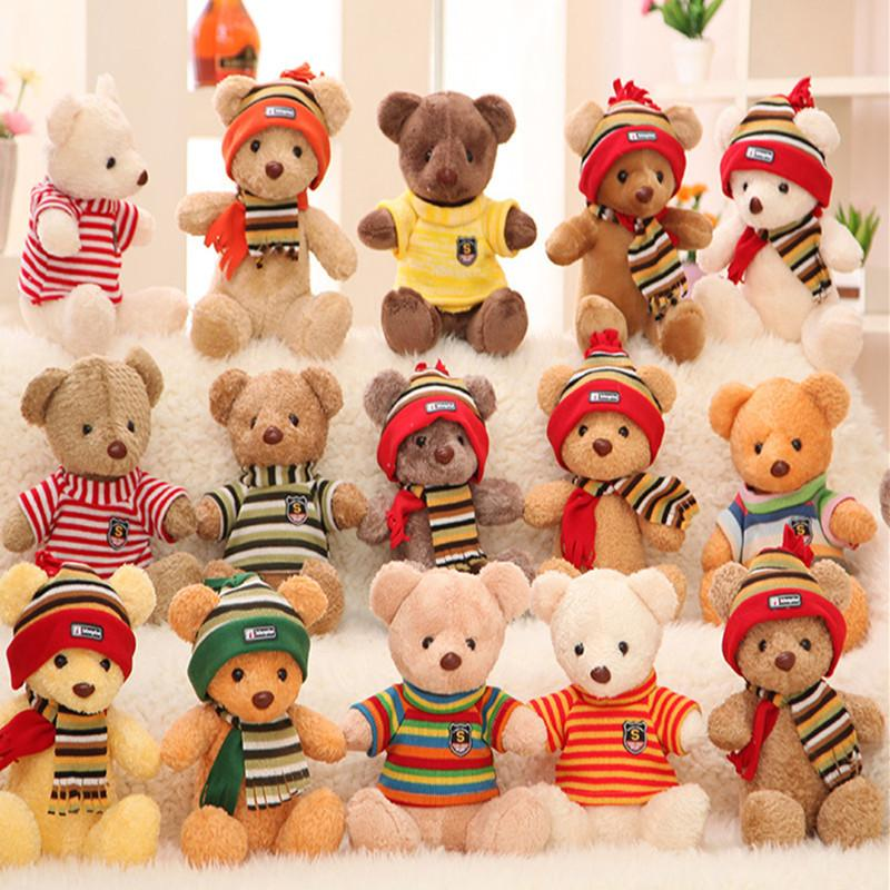 Christmas Bear.2019 30cm Teddy Bears Plush Toys Small Cute Baby Teddy Bears 30cm Teddy Bears Plush Toys Stuffe Dolls Wholesale For Baby Kids Christmas Gifts From