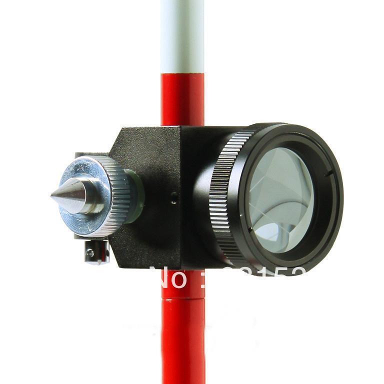 Freeshipping Mini Prism com 3 Três Pólos para Estação Total Novo 0mm Prism Offset