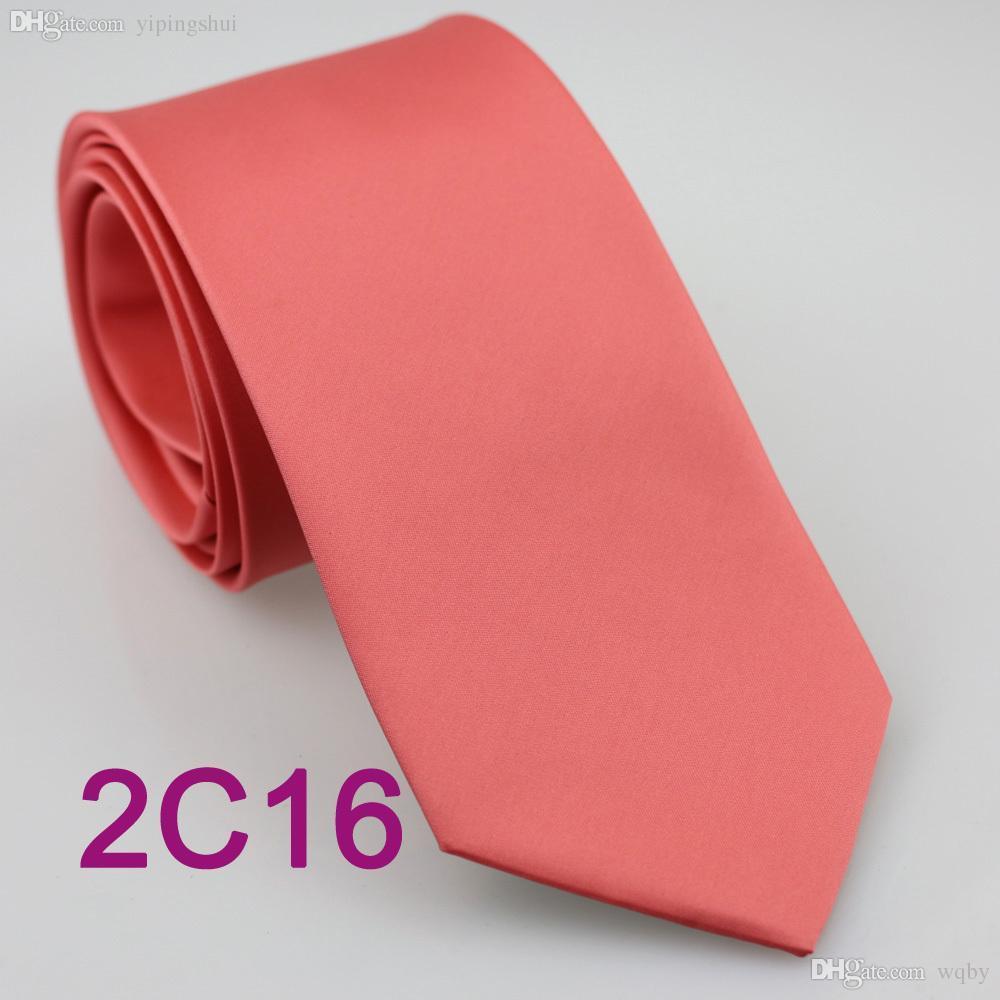 Venta al por mayor-YIBEI Coachella Tie melocotón Coral Rosa Corbata Color sólido 2015 Nuevo Gravatas Lazos normales 8.5cm6cm Traje Vestido De Festa