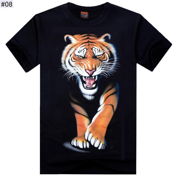 Hoge kwaliteit S-XXL Nieuwe Mode Katoenen Merk T-shirt Mannen 3D T-shirt Kleding Schedel Dier Animal Causul T-shirts Camisetas Masculinas
