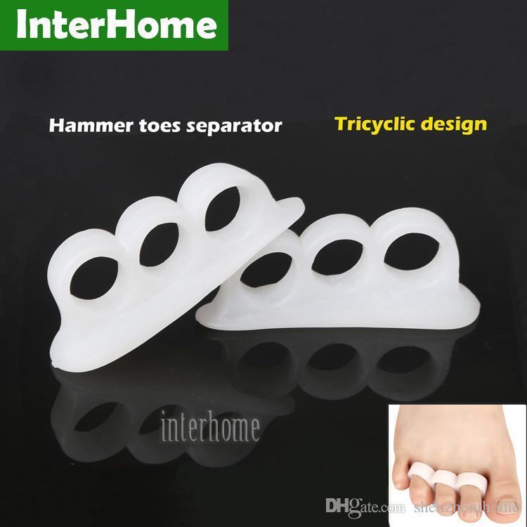 매일 실리콘 해머 발가락 뼈 발 관리를 해결하기 위해 도매 20 쌍 bicyclic 엄지 정형 외과 버팀대